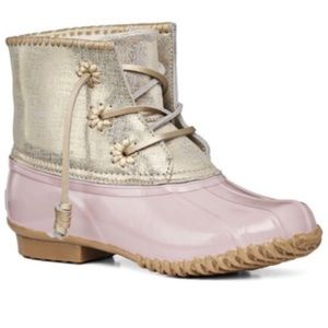 Jack Rogers | New Blush Pink Gold Chloe Duck Boot